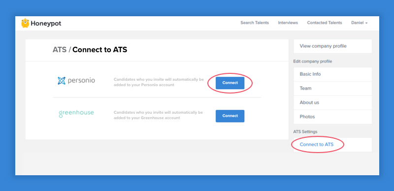 Connect to ATS