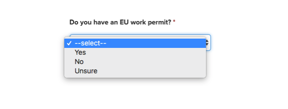 EU Work Permit Question