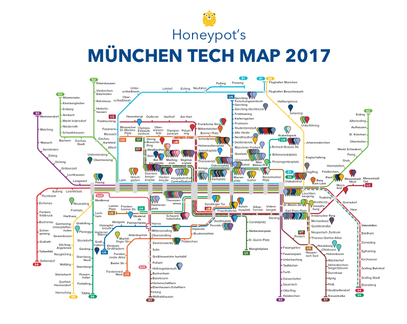 Munich tech map