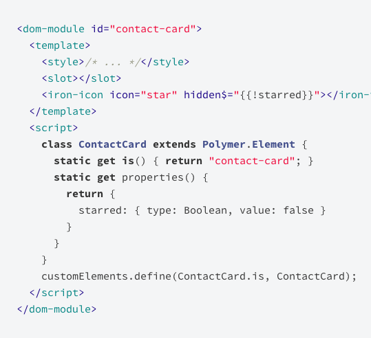Polymer Example Code