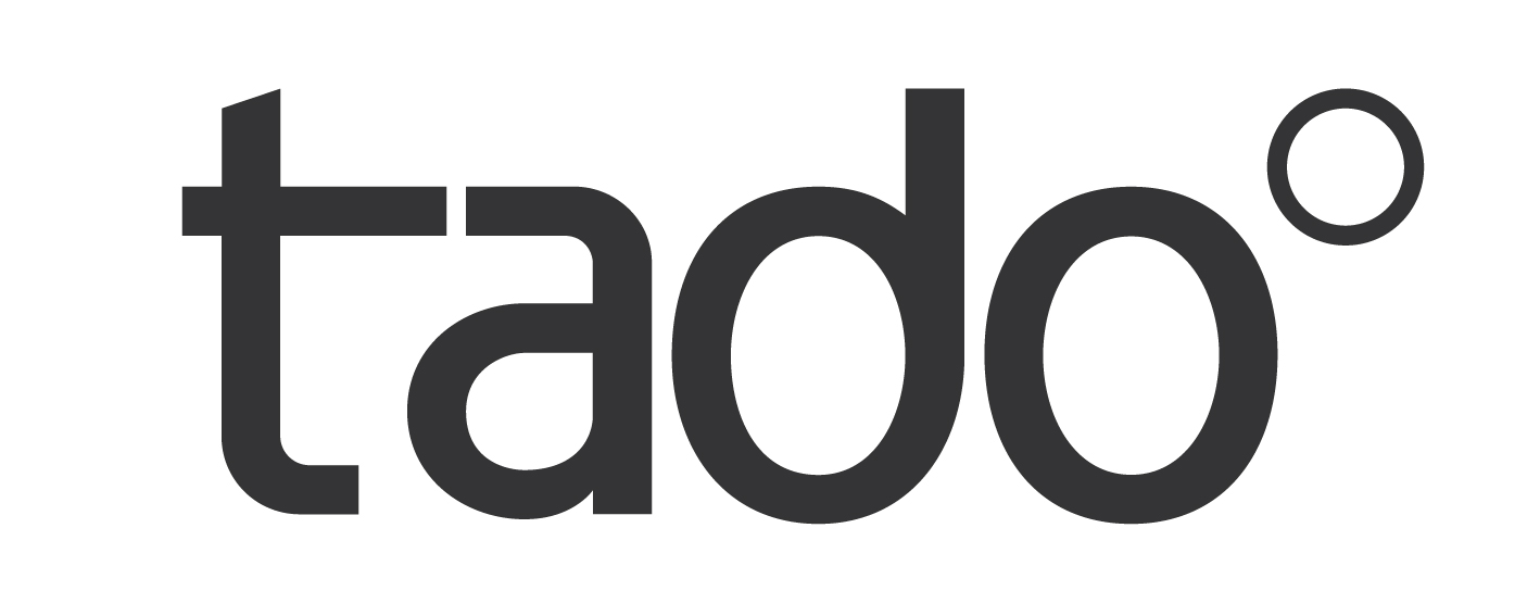 Company logo for tado° home heating and cooling.