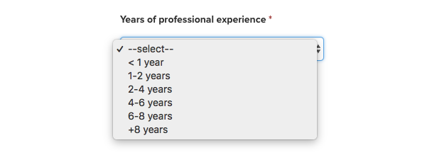 Years of Experience Photo